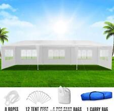 Heavy Duty 3x9m White Walled Waterproof Outdoor Gazebo Fully Waterproof & UV