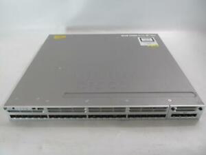 Cisco WS-C3850-24S-E 24-Port Ethernet Switch w/ C3850-NM-4-1G 2x PWR-C1-350WAC