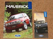 1996 FORD MAVERICK Sales Brochure & Price List - 2.4i, 2.7TDI - Mint Condition