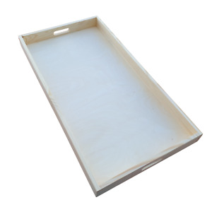 Wooden Serving Extra Large Tray 75 cm x 40 cm x 6 cm- Unpainted / for Decoupage