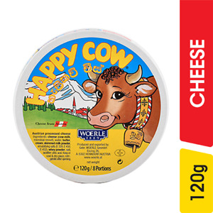 Happy Cow Cheese 8 Portions 120g 100% Fresh healthy natural Milk Free Ship