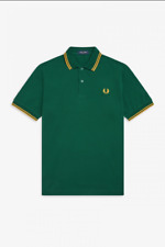 Fred Perry Twin Tipped Polo Shirt/Ivy/Gold - Medium SRP £65.00