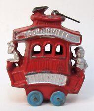 1923 Fontaine Fox TOONERVILLE TROLLEY lead pot metal slush mold RED color