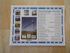 POSTCARD - TRANSPORTER BRIDGES OF THE WORLD - FRIENDS OF NEWPORT