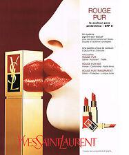 PUBLICITE  ADVERTISING  1998   YVES SAINT LAURENT  cosmétiques beauté des lévres