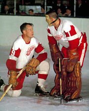 GORDIE HOWE TERRY SAWCHUK 8X10 GLOSSY PHOTO PICTURE