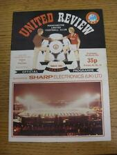 06/03/1985 Manchester United v Videoton [UEFA Cup] (Slight Marked). This item is