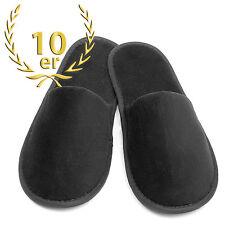 10 Paar Set PREMIUM Velour Slipper Hausschuhe Hotel Schuhe Sauna Pantoffeln zu