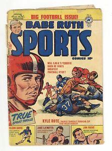 Babe Ruth Sports Comics #10 GD- 1.8 1950