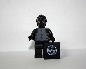 Black Protocol droid Star Wars minifigure clone wars cartoon toy figure
