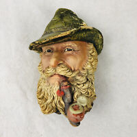 Vintage Bossons England Tyrolean Man with Pipe Wall Hanging Art Chalkware Head