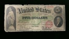 1862 5 Dollars New York Large Size Currency No. 27635 Circulated