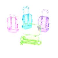 Random Color Plastic Travel Train Suitcase Luggage For Doll Gw