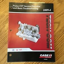 Case International IH TECH-COM PUMA CVT TRANSMISSION SERVICE & T/S GUIDE MANUAL