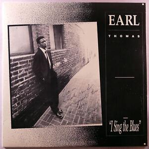 "EARL THOMAS I Sing the Blues 12"" 33RPM LP Private Press 1990 AUTOGRAPH San Diego"