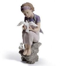 LLADRO porcellana: giocare con le colombe in pensione 01008536 (2011)