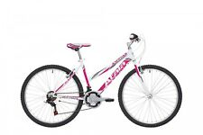 "BICI BICICLETTA Mountain Bike MTB ATALA SUNRISE 26"" 2018 DONNA Lady White Fucsia"