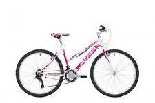 """BICI BICICLETTA Mountain Bike MTB ATALA SUNRISE 26"""" 2018 DONNA Lady White Fucsia"""