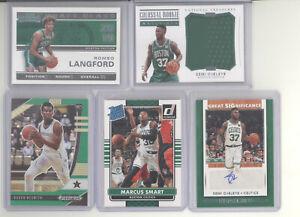 Boston Celtics auto jersey serial # prizm RC 10 card lot Marcus Smart Ojeleye