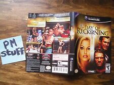 Version bilingue de la couverture du jeu Nintendo Game Cube WWE Day of Reckoning