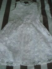 GIRLS BNWT NEXT WHITE FLORAL PROM/PARTY DRESS AGE 10 YEARS