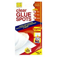 151 Clear Glue Spots Dots Double Sided Craft Instant Stick Glue Spot