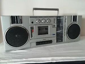VINTAGE RADIO-CASSETTE PLAYER/RECORDER SHARP GF-7300Z   From 80s