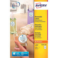 Avery Special Permanent Round 24 per Sheet 40mm Diameter White 2400 Labels