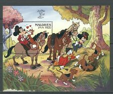 Walt Disney, London 90, Pferde, Hund - Malediven - Bl.166 ** MNH 1990