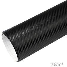 7€/m² Premium 3D Carbon Folie schwarz Autofolie BLASENFREI Matt Glanz Auto