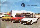 MG: Midget-MGB-MGB GT 1977 Sales Brochure - Acceptable - Ephemera