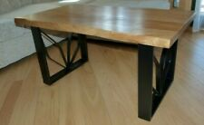Rustic oak wood solid handmade coffe table