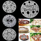 4 pcs/set Round Sugar Craft Cake Stencils Fondant Cutter Decor Mold Mould Tool