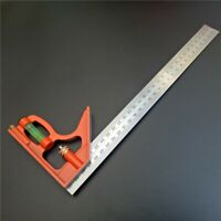 Multi-function Combination Set Square Stainless Steel Ruler & Level 300mm Hot