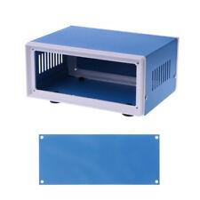 "6.7"" x 5.1"" x 3.1"" Blue Metal Enclosure Project Case DIY Junction Box"