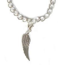Engel Flügel Armband Charm Anhänger Damen Armkette silberfarben Armreif 19 cm