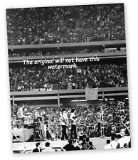 THE BEATLES FIRST CONCERT AT SHEA STADIUM NEW YORK 1965 VINTAGE PRINT MOUNTED