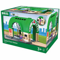 BRIO World 33649 Central Train Station for Wooden Train Set