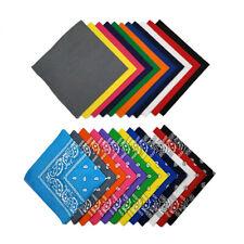 Mechaly Deluxe Kerchiefs 100% Cotton Multi Styles 22 x 22 In Headband - Paisley