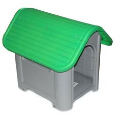 Outdoor Dog House Small to Medium Pet All Weather Doghouse Puppy Shelter Green