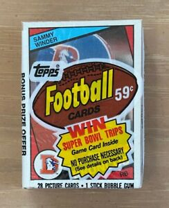 VINTAGE 1984 TOPPS NFL FOOTBALL CELLO PACK - MARINO ELWAY WARNER - SAMMY WINDER