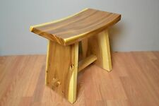 Dining Stool Bench Japanese Saddle Style Handmade from Solid Suar Wood