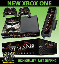 XBOX ONE CONSOLE STICKER BATMAN ARKHAM KNIGHT DARK GOTHAM SKIN & 2 PAD SKINS