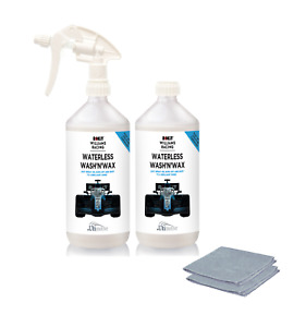 Williams Waterless Wash and Wax Car Cleaning kit 2 x 1L plus 2 Microfibre cloths