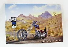 Arizona historic route 66 Harley Davidson mountain postcard unposted new