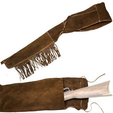 "Deluxe Suede Leather Rifle Scabbard Holster Fits Most 40"" Rifles Carbines"