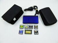 Nintendo DS Lite Blue USG-001 Hand-Held System bundle Tested & Works No Stylus