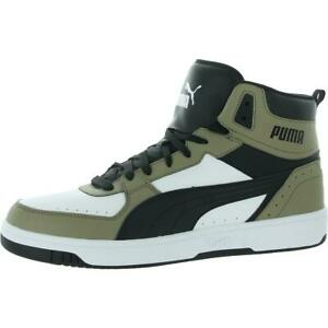 Puma Mens Rebound JOY White High Top Sneakers Shoes 14 Medium (D) BHFO 3219