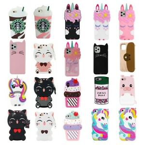 Cute 3D Cartoon Silicone Case Cover For iPhone 5 6 7 8 Plus XR11 Pro max Touch 7