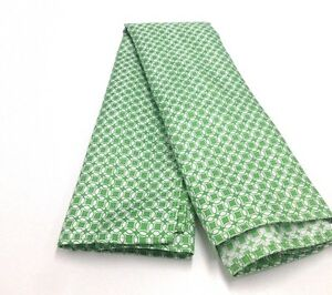 $125 Tommy Hilfiger Men Silk Check White Green Handkerchief Casual Pocket Square